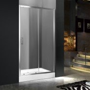 60 In. (150 cm) Clear Tempered Glass Sliding Shower Stall (DK-MS-WE-05)
