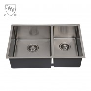 Stainless Steel Kitchen Sink, Double Bowl (DK-SC-DDR3219-R10)