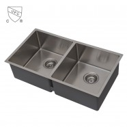 Stainless Steel Kitchen Sink, Double Bowl (DK-SC-DSR3219-R10)