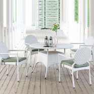PE Rattan 5 Pieces Dining Set: 1 * Dining Table, 4 * Chair (LLS-DE-01)