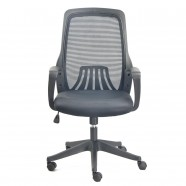 Black Mid-Back Mesh Office Chair with arm (YZ001B)