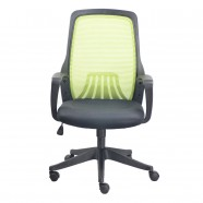 Green Mid-Back Mesh Office Chair with arm (YZ001G)