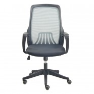 Grey Mid-Back Mesh Office Chair with arm (YZ001GY)