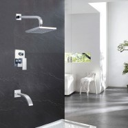 Bathroom Single Handle Shower Faucet - Brass with Chrome Finish (86H15-CHR-SA)