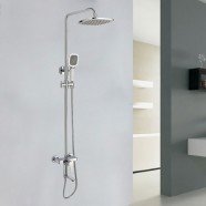Bathroom Single Handle Tub and Shower Faucet - Brass with Chrome Finish (86H47-CHR)