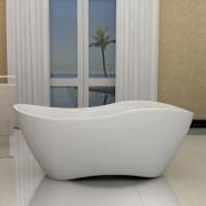 63 In White Acrylic Seamless Freestanding Bathtub (DK-40676)