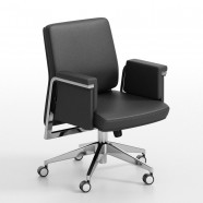 Black Executive Chair in Leather (BY-106)