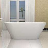 70 In White Acrylic Seamless Freestanding Bathtub (DK-5878)