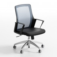 Gray Mid-Back Mesh Office Chair with arm (ZY-102)