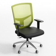 Green Mid-Back Mesh Office Chair with arm (ZY-103)