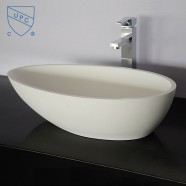 White Artificial Stone Above Counter Bathroom Vessel Sink (DK-HB9035)