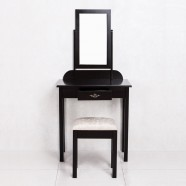 Bedroom Makeup Vanity Set with Mirror and Stool (JI3138)