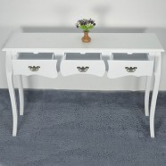 48.0''W White Console Table with 3 Drawers (JI3237)