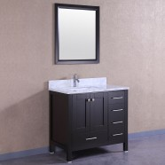 36 In. Freestanding Bathroom Vanity Set with Single Sink and Mirror (DK-T9199-36E)