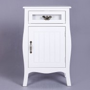 Classic Nightstand with Drawer and Cabinet (JI3212)