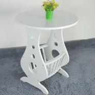 23.6''D Round Grey Wood Coffee Table (JI3244)