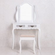 White Bedroom Vanity Set with Mirror and Stool (JI3240)