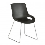 Molded Plastic Chair - Black - Set of 2 (YMG-9105S-1)
