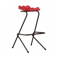 "30.9"" Red Height Plastic Bar Stool - Set of 4 (YMG-8111C)"