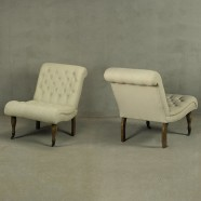 Tufted Armless Slipper Chairs (PJC479)