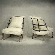 Set of 2 Slipper Armless Chairs (PJC911)