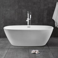 67 In White Acrylic Freestanding Bathtub (DK-28778)