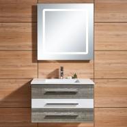 31 In. Wall-Mount Bathroom Vanity Set, Single Sink and LED Mirror (DK-669800)