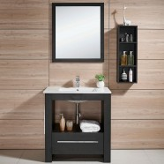 24 In. Freestanding Bathroom Vanity Set, Single Sink and Mirror (DK-610600)