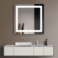36 x 36 In LED Bathroom Silvered Mirror, Touch Button (DK-OD-CK168-E)