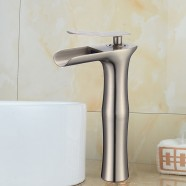 Basin&Sink Waterfall Faucet - Brass in Brushed Nickel (81H36-BN-005-T)