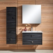 31 In. Wall-Mount Bathroom Vanity Set, Single Sink and Mirror (DK-656800)