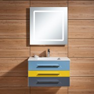 31 In. Wall-Mount Bathroom Vanity Set, Single Sink and LED Mirror (DK-668800)