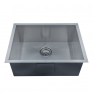 22.4 x 17 In. Stainless Steel Single Bowl Handmade Kitchen Sink (AS2217-R0)