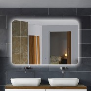 36 x 28 In. Horizontal LED Lighted Bathroom Mirror, Touch Button (DK-OD-NO1)