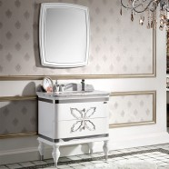 32 In. White Single Sink Bathroom Vanity Set with Mirror (PD-1356)