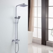 Rain Shower Head with Plastic Handle Shower - Brass with Chrome Finish (DK-YDL9116)