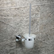 Toilet Brush Holder - Chrome Plated Brass (2508)