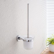 Toilet Brush Holder - Chrome Plated Brass (2808)