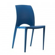 Molded Plastic Chair in Blue - Set of 4 (YMG-9908)