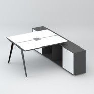 2 Persons Office Workstation - 2 Optional Colors (WM51-12W)
