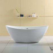 63 In Freestanding Bathtub - Acrylic White (DK-Q157-16)