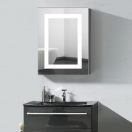 24 x 32 In. Vertical LED Lighted Mirror Cabinet , Touch Button (DK-OD-NS168)