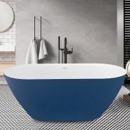 67 Inch Acrylic Freestanding Bathtub in Victoria Blue (K123775B)