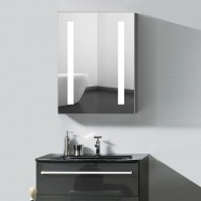 24 x 32  In. Vertical LED Lighted Mirror Cabinet , Touch Button (DK-OD-NS36)