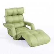 Green Soft Linen Fabric Folding Floor Sofa Recliner (K16RS01-G)