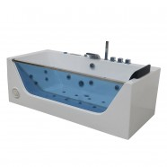 Decoraport 68 In Massage Bathtub with Air Bubble, Computer Panel and Light (DK-Q408)