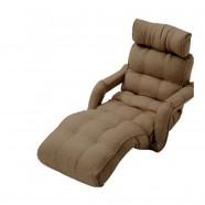 Light Coffee Soft Linen Fabric Folding Floor Sofa Recliner (K16RS01-LC)