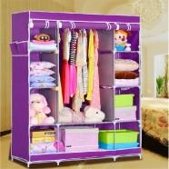 Portable Wardrobe Closet Storage Organizer with Shelving (DK-WF1610-1)