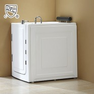 40 x 28 In Walk-in Whirlpool Soaking Bathtub - Acrylic White with Left Drain (DK-MQ376-L)