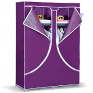 Non-woven Fabric Portable Wardrobe Closet Storage Organizer with Shelving, Double  (DK-WF8502-1)